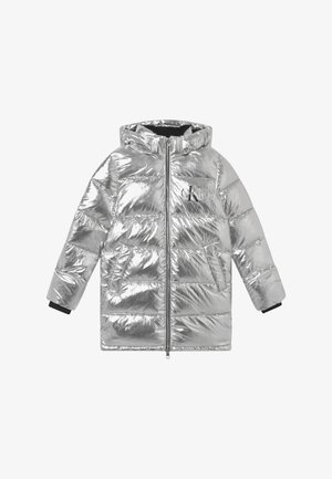 PUFFER LONG - Vinterkappa /-rock - silver metallic