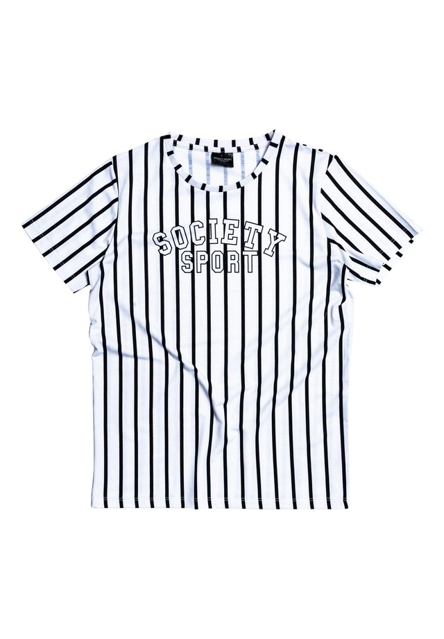 INVERT STRIPE - Print T-shirt - white/black