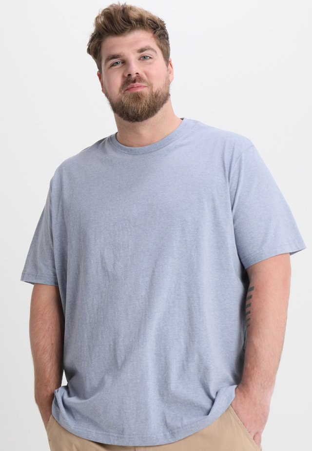 CAPSULE CREW NECK - T-shirt basic - blue marl