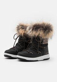 Moon Boot - JR GIRL MONACO LOW WP - Winter boots - black/copper - 1