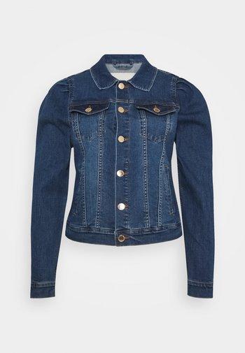 FQROCK PUFF - Denim jacket - medium blue