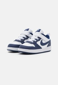 Nike Sportswear - COURT BOROUGH 2 UNISEX - Sneakers laag - white/blue void/signal blue - 1
