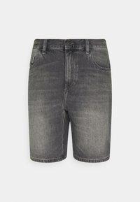 Denim shorts - washed black