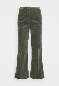 Monki - WENDY TROUSERS - Trousers - khaki green medium dusty solid - 5
