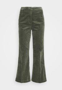 WENDY TROUSERS - Trousers - khaki green medium dusty solid