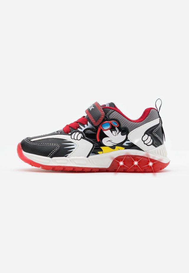 SPAZIALE BOY - Sneakers laag - black/red