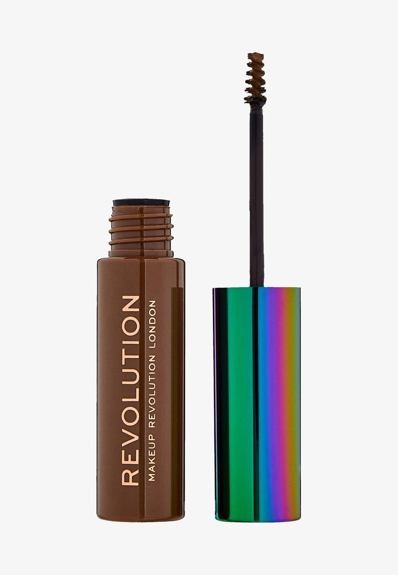 Make up Revolution - HIGH BROW GEL WITH CANNABIS SATIVA - Augenbrauengel - ash brown