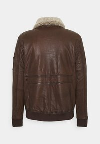 Alpha Industries - G1 LEATHER JACKET - Leather jacket - brown - 1