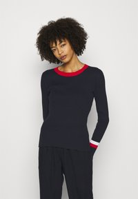 Tommy Hilfiger - WARM GLOBAL STRIPE - Jumper - desert sky - 0