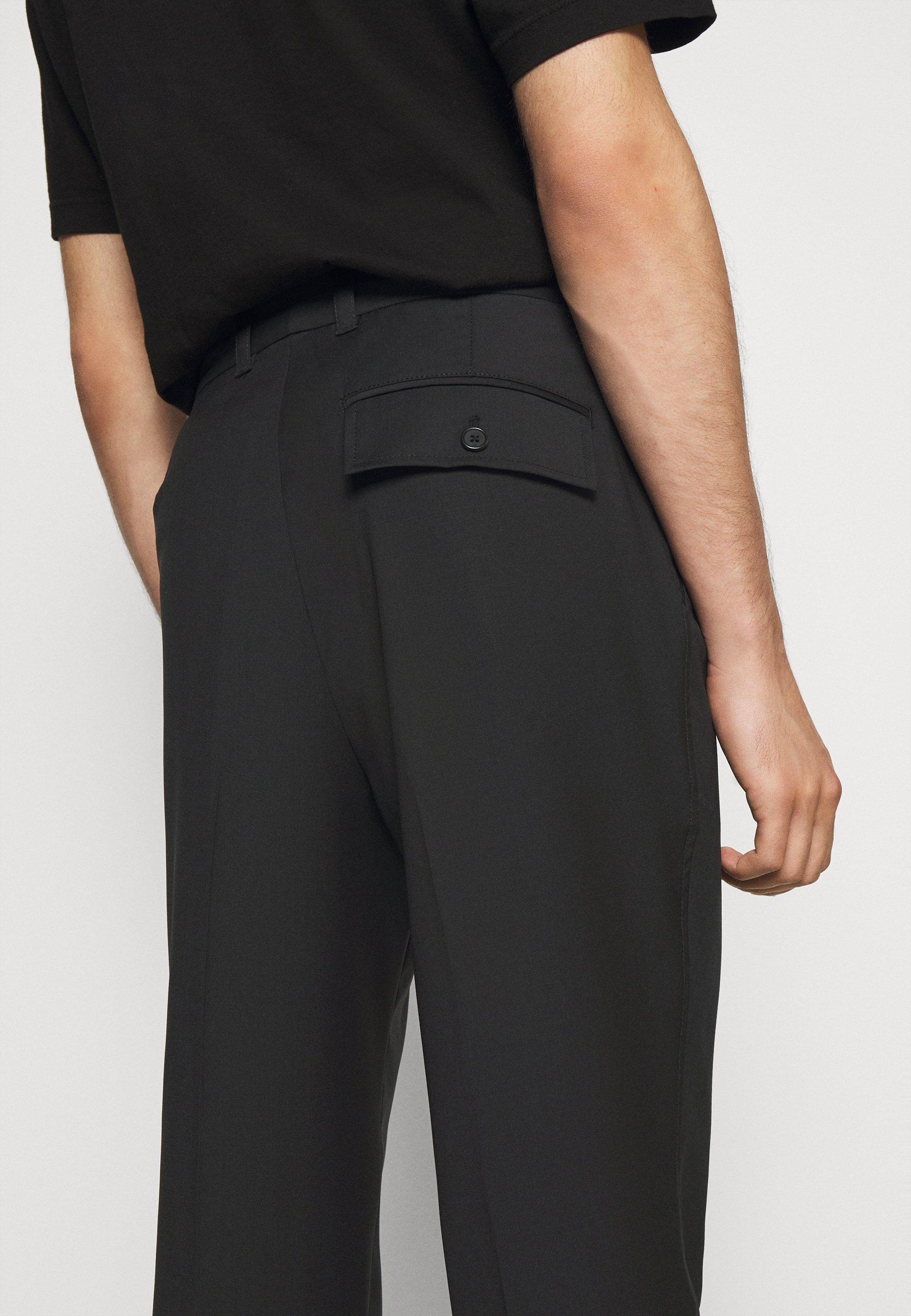 3.1 Phillip Lim Single Pleat - Spodnie Materiałowe Black