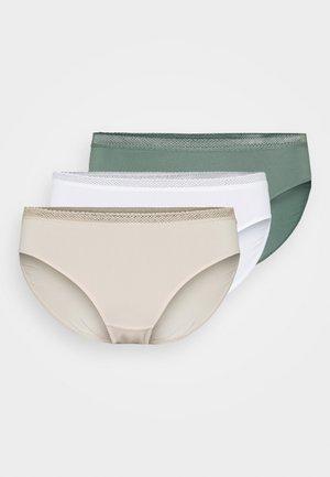 ZANNA 3 PACK - Slip - white/beige/green