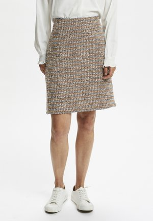 Pencil skirt - dusty blue boucle mix