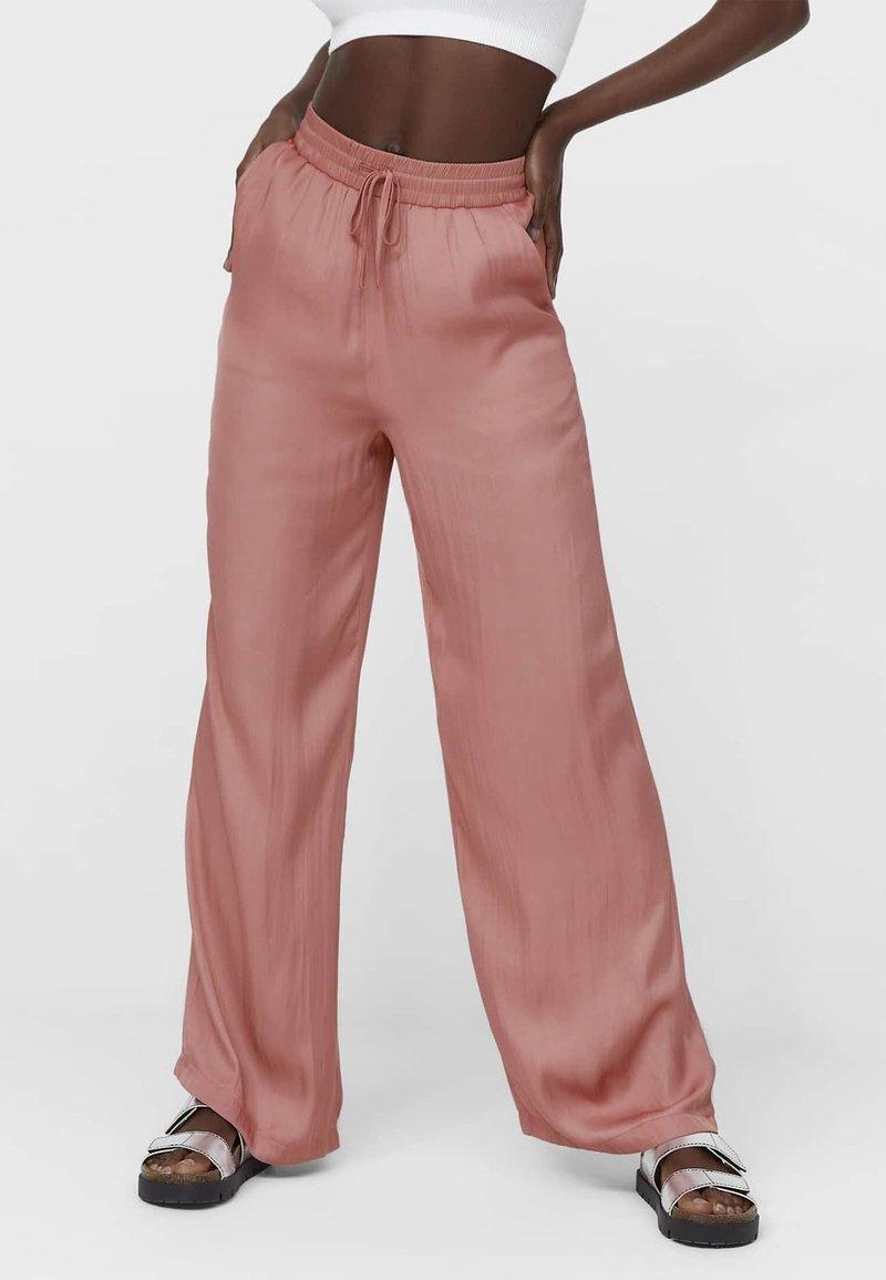 Stradivarius - Trousers - light pink