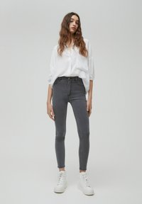 PULL&BEAR - SKINNY - Jeans Skinny Fit - dark grey - 1