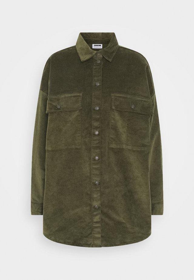 NMFLANNY LONG SHACKET - Summer jacket - kalamata