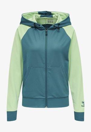 Zip-up hoodie - blue coral/green ash