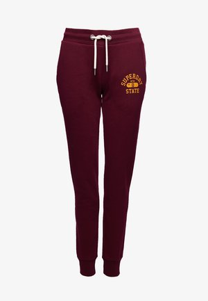 TRACK & FIELD CLASSIC  - Tracksuit bottoms - deep port