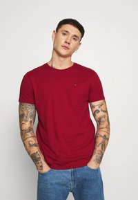 Tommy Jeans - ESSENTIAL SOLID TEE - T-shirts basic - wine red - 0