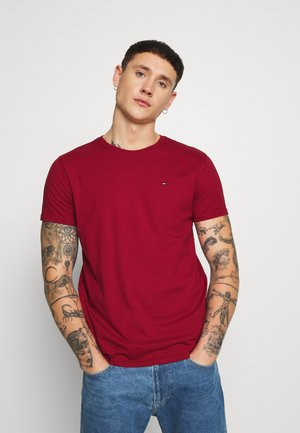 ESSENTIAL SOLID TEE - T-shirt - bas - wine red