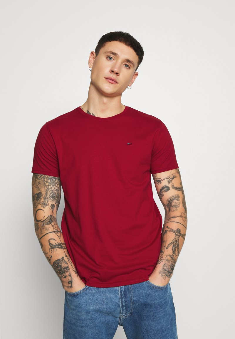 Tommy Jeans - ESSENTIAL SOLID TEE - T-shirts basic - wine red