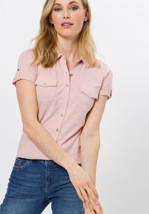 Button-down blouse - peach sorbet