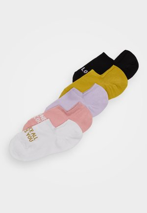 MIXED SNEAKER SOCKS 5 PACK - Ankelsokker - mustard yellow/black/white