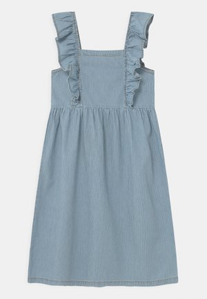 STRIPED  - Denim dress - blue