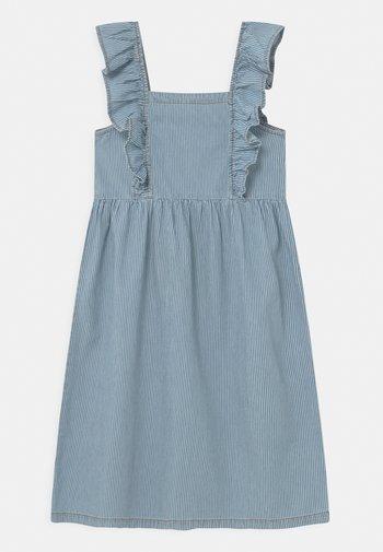STRIPED  - Denimové šaty - blue