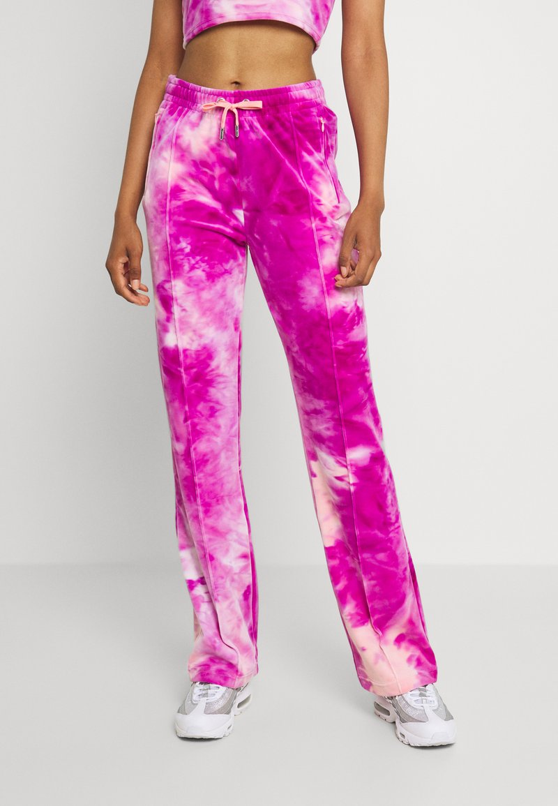 Juicy Couture - TINA TRACK PANTS - Tracksuit bottoms - rosebud/almond blossom