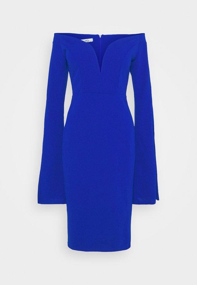 AMELIA V PLUNGE MIDI DRESS - Korte jurk - electric blue
