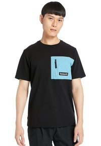 Timberland - Print T-shirt - black/adriatic - 0