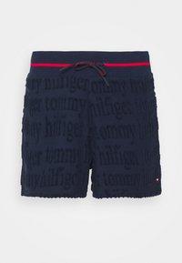 TRACK SHORT ALLOVER LOGO - Pantaloni del pigiama - navy blazer