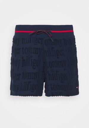 TRACK SHORT ALLOVER LOGO - Pyjama bottoms - navy blazer