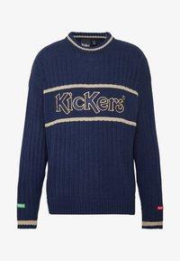 Kickers Classics - WIDE - Svetr - navy/ beige - 4