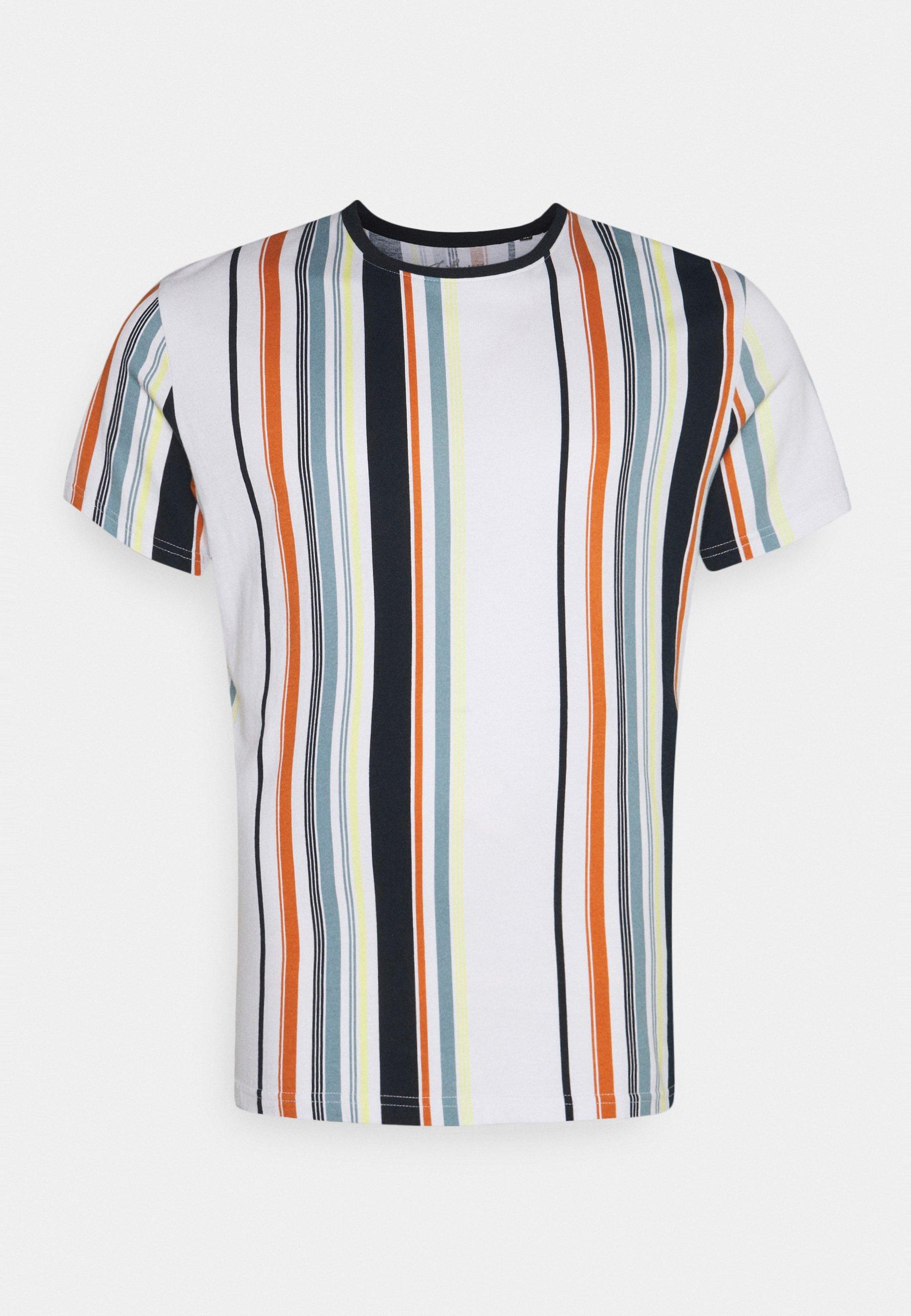 Men ACTON VERTICAL STRIPE TEE - Print T-shirt