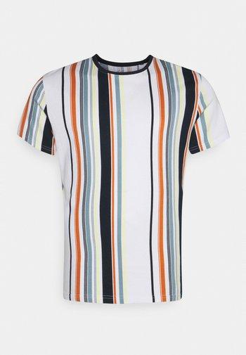 ACTON VERTICAL STRIPE TEE - Print T-shirt - multi-coloured