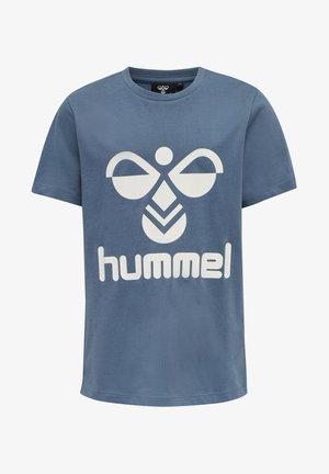 HMLLTRES - Print T-shirt - china blue
