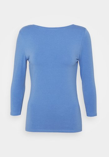 FITTED SLASH - Long sleeved top - blue