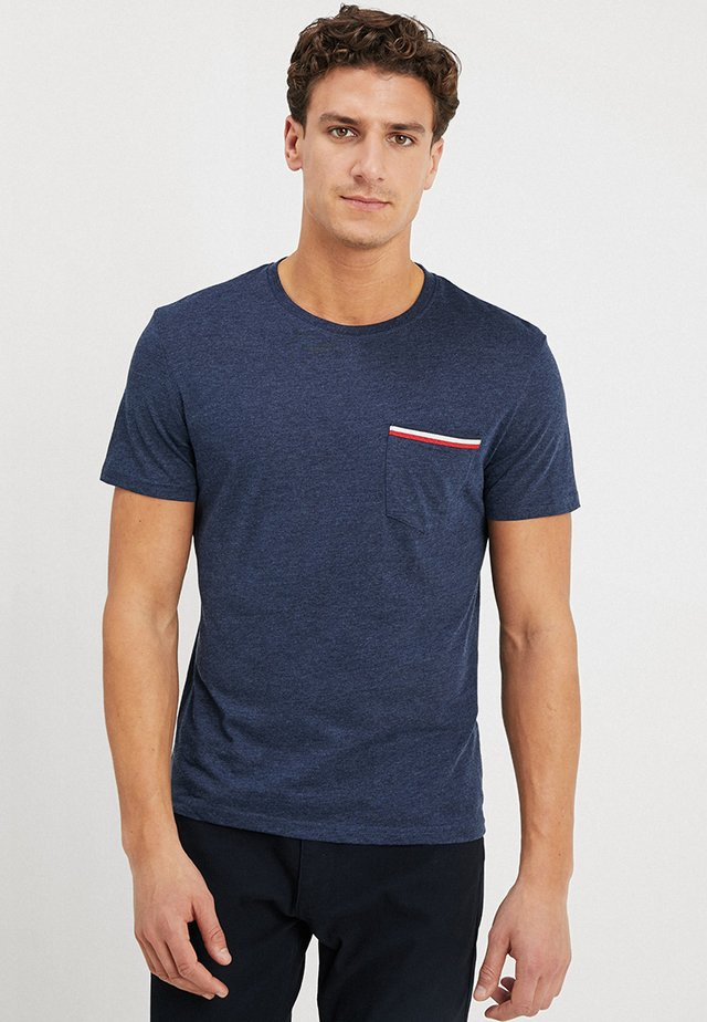 Basic T-shirt - mottled dark blue