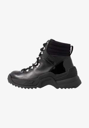 QUEST CROSS LACE MID - Schnürstiefelette - black
