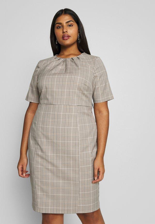 PLEAT NECK DRESS - Sukienka etui - multi coloured