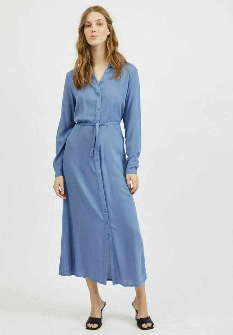 Vila - Shirt dress - colony blue