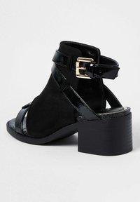 River Island - Ankle strap ballet pumps - black - 2
