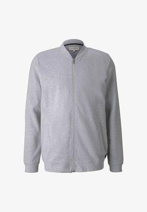 Sweat à capuche zippé - light stone grey melange