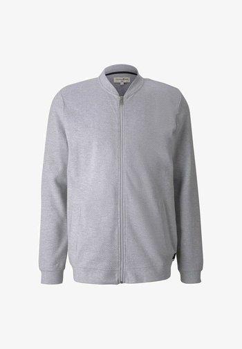 Zip-up hoodie - light stone grey melange