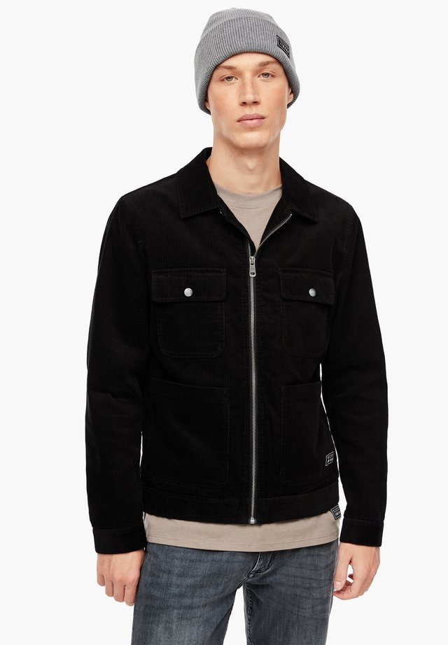 SHACKET AUS FEINCORD - Light jacket - black