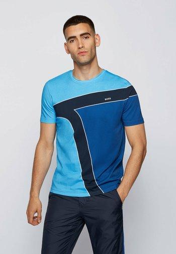 T-shirt print - open blue