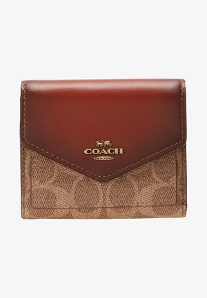 COLORBLOCK SIGNATURE SMALL WALLET - Wallet - tan rust