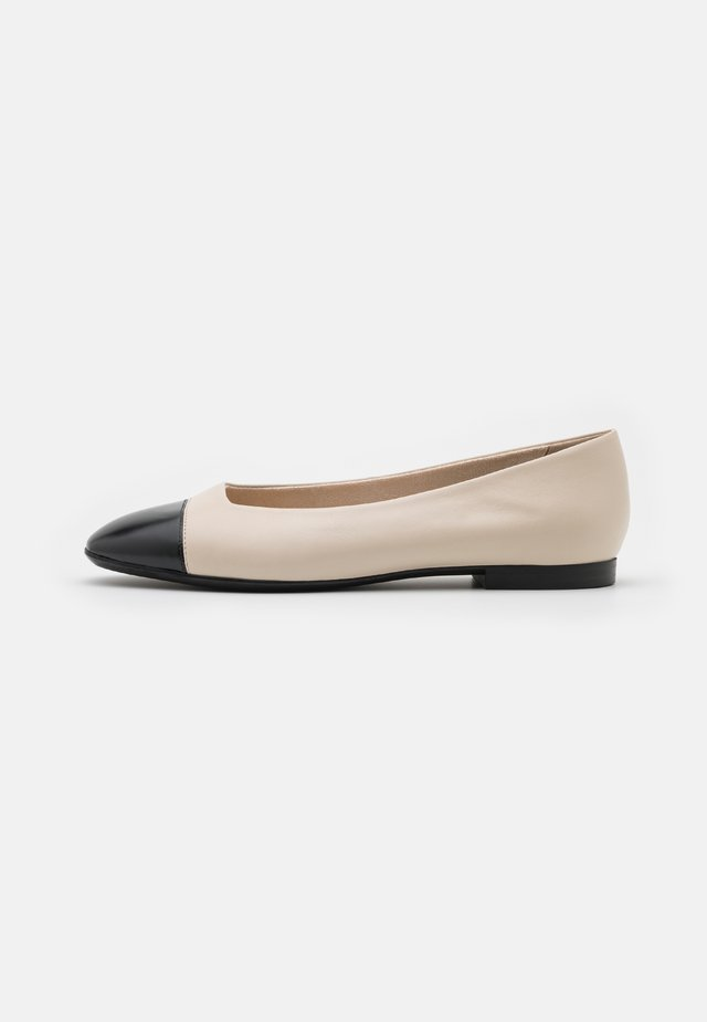 Ballerinaskor - ivory/black