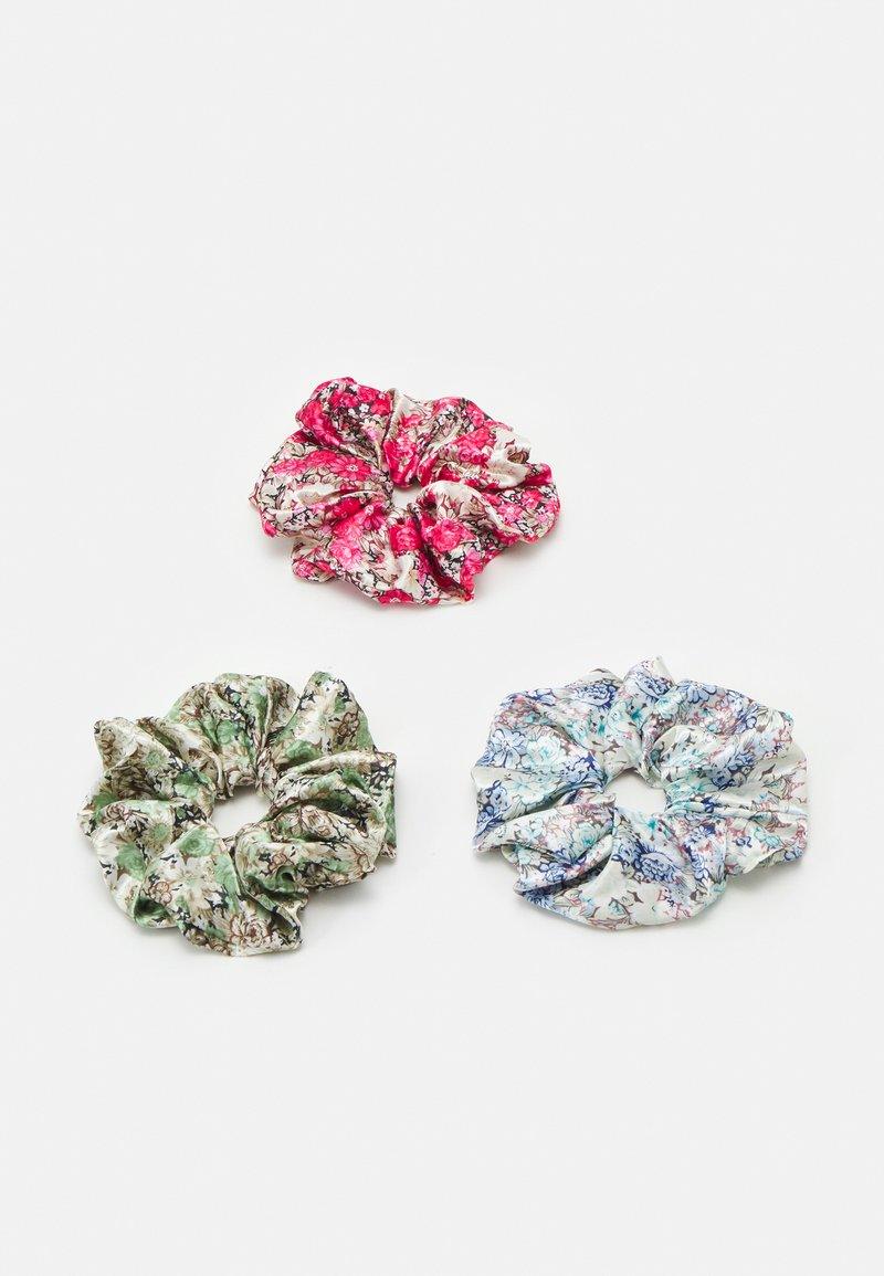 Pieces - PCJACKIELINE SCRUNCHIE 3 PACK - Hair Styling Accessory - kentucky blue/flower red/green